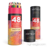 Arteza Colored Pencils with Color Names Soft Core Triangular shaped Pre sharpened (Pack of 48) - B07CH2CV6C