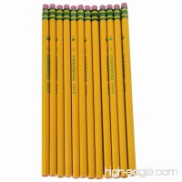 Dixon Ticonderoga Company Ticonderoga Pencil  with Eraser  No 1  Extra Soft  Yellow (DIX13881) - B00E1CP9OU