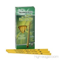 Dixon Ticonderoga Laddie Tri-Write Triangular Shaped Intermediate #2 Pencils Without Erasers  Box of 36  Yellow (13044) - B003U6QDES