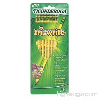 Dixon Ticonderoga Tri-Write Triangular Standard Size #2 Pencils Set of 8 Yellow (13852) - B0002LCZV4