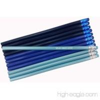 ezpencils - Personalized Shadows of Blue Hexagon Pencils - 12 pkg - ** FREE PERZONALIZATION ** - B00BHGTJJ4
