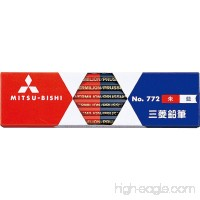 Uni-ball Vermilion Red and Prussian Blue Wooden Pencil - 5:5 - Hexagonal Body - Pack of 12 (japan import) - B001BL1T98