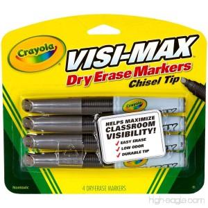 Crayola Low Odor Chisel Tip Visi-max Black Dry Erase Markers- 4 Pack - B00R8DJLPW