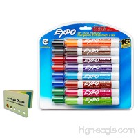 Expo 81045 Low-Odor Dry Erase Markers  Chisel Tip  16-Pack  Assorted  Includes 5 Color Flag Set - B079H4W1CX