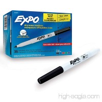 EXPO Low-Odor Dry Erase Markers Ultra Fine Tip Assorted Colors 36-Count - B06X97Q29G