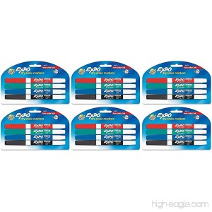 Expo Low Odor Dry Erase Pen Style Markers 4 Colored Markers [86674] (Pack of 6) Total 24 Markers - B00MSK7BQ6