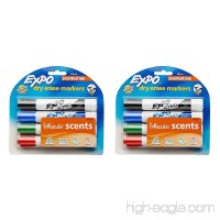 EXPO Scented Dry Erase Markers Chisel Tip Assorted Colors 4-Piece (Pack of 2) - B01MYEJF91