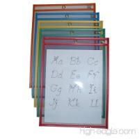 "Reusable Dry Erase Pockets/Job Shop Ticket Holders  9""x12""  Assorted Colors  25 per Box  by Reflection 503 - B01FV1D9AU"
