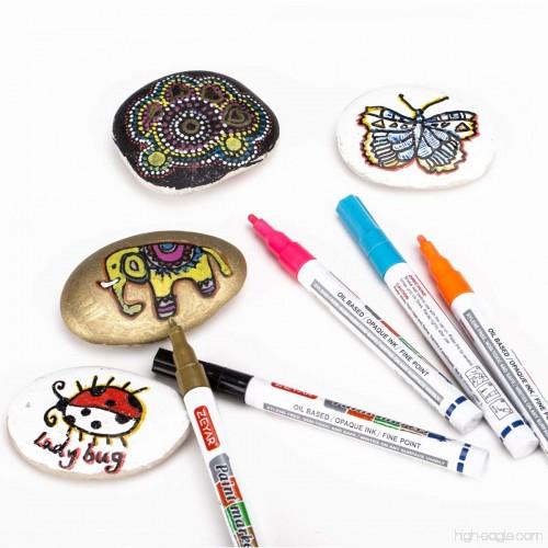 Zeyar Paint Pens Expert Of Rock Painting Oil Based Fine