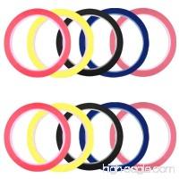 SENHAI 10 pcs Graphic Chart Tapes 3mm & 6mm Width Whiteboard Grid Art Tapes Self-adhesive Gridding Chart Masking Tapes - Black Red Blue Pink Light Yellow - B07FJW2L5R