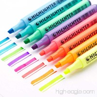 EASTHILL 8Pcs Permanent Markers Tip Gel Highlighters Assorted Colored pens For Study Planner Office Art Drawing Sketching Underlining - B07BBM2G9T