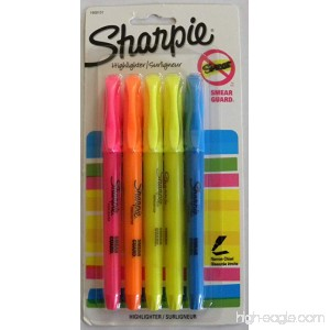 Sharpie Accent Pocket Style Highlighters Chisel Tip Assorted 5/Pack - B00NE0YI60