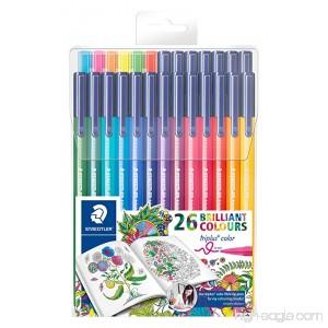 Staedtler 26 Triplus Fineliner Fiber Tip Color Pens for Adults Johanna Basford Edition 26 colours - B016DFAIIE