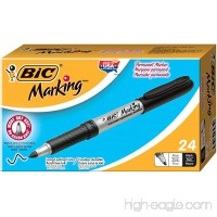 BIC Marking Permanent Marker  Fine Point  Black  24-Count - B00H14PM1A