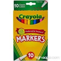 Crayola 10 Ct Fine Line Markers - B000K9DKIA