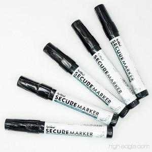 Secure Marker Redacting Pen | Blackout Marker | Blacks Out Private Information (5 Markers) - B01I2706FG