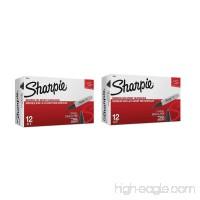 Sharpie Permanent Markers  Chisel Tip  Black  2 Dozens - B01MSAIZZY