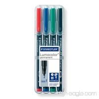 Staedtler 318-WP4 Lumocolor Permanent Universal Pens  Fine Point  0.6mm  Assorted  4 per Set - B000SHT14G