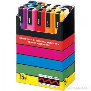 uni-posca Paint Marker Pen - Medium Point - Set of 15 (PC-5M15C) - B07FQ7QGY8