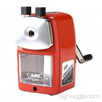 CARL Angel-5 Pencil Sharpener  Red  Quiet for Office  Home and School - B00MVHUB6S