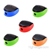 Cosmos 5 PCS Random Color Plastic Manual Pencil Sharpener - B00ZT7WBS8