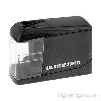 U.S. Office Supply Electric Pencil Sharpener - Battery or USB Powered - Sharpen Graphite and Colored Pencils - Home School Office - B01M1EB0W1
