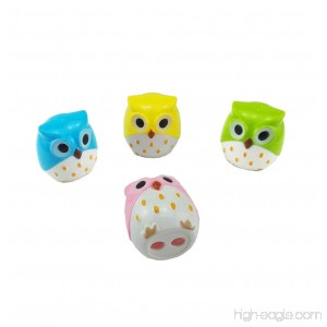 yueton Pack of 4 Cute Cartoon Animal Owl Pattern Double Holes Pencil Sharpeners Creative Stationery School Prize for Kids - B01D2DZ920