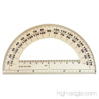 "6"" Clear Plastic Student Protractor - B008MT9PE8"