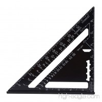 Angle Protractor 7 Inch Metric Aluminum Alloy Black Oxidation Roofing Triangle Angle Protractor Layout Guide(Imperial) - B074H3LJ8T