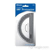 "BAZIC Semicircular 6"" Protractor (Case of 24) - B00275E9I0"