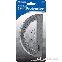 BAZIC Semicircular 6 Protractor for School Home or Office Supplies - B0019IO3VY