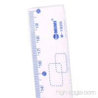 DealMux Plastic Combination Triangle Straight Protractor Ruler Set 4 in 1 Dark Blue - B072SJ3YN4