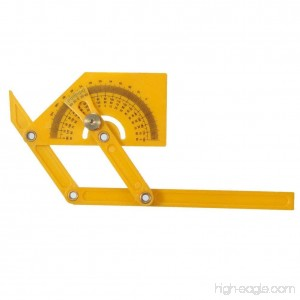 Delaman Angle Finder Multi-Angle Goniometer Miter Gauge Arm Measuring Ruler Plastic Protractor Template Tool - B077ZQLFWD