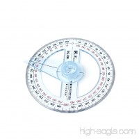Hunulu Plastic 360 Degree Protractor Ruler Angle Finder Swing Arm School Office - B01NAPMY66
