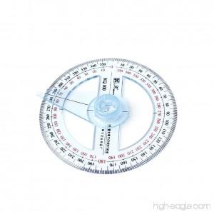 Hunulu Plastic 360 Degree Protractor Ruler Angle Finder Swing Arm School Office - B01NAPMY66