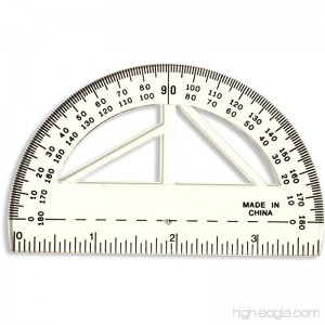 Officemate Achieva 4-Inch Protractor and Ruler Clear 12 Pack (30204) - B008LAUUZ6
