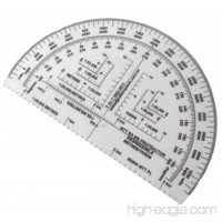 RA 6IN Protractor Degrees/Mils/Metres/Yards - B00NTIJLLY