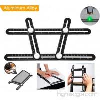 Angleizer Template Tool BOMPOW Multi Angle Ruler for DIY Carpenters Craftsmen - B078M79B1K