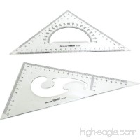 BronaGrand Large Triangle Ruler Square Set 30/ 60 and 45/ 90 Degrees Set of 2 - B01MDTEITN
