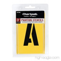 Chartpak Letter and Number Painting Stencils  A-Z and 0-9  3 Inches H  35 per Pack (01560) - B001GXCFDK
