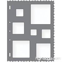 Fiskars 8.5x11 Inch Sheet Squares Shape Template (48527097F) - B000FPVA4K