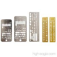 Kangkang@ 5 PCS 5 Style Portable Metal Multi Functional Drawing Template Ruler Stencil for Agenda Planner Journal Scrapbook Diary - B071NZG9M4