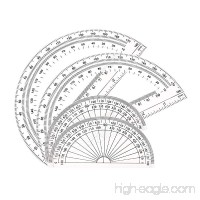 Math Protractors Plastic Protractor 180 Degrees Clear (2 Pack-4 in and 2 Pack-6 in) - B06ZZ9KCR2