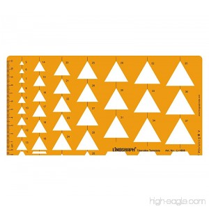 Triangle Shapes Drafting And Design Template Stencil Symbols Technical Drawing Scale - B01DLZA8OS