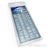 Westcott Alphabet and Number 10mm Stencil – Transparent Blue - 14.9cm x 6.5cm - B07DVLRRVW