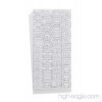 Westcott LetterCraft Permanent Vinyl Lettering Helvetica 1-Inch  White (15861) - B00HU8IWJ6