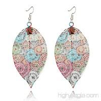 Womens Earrings Elegant Ethnic Leaves Earrings Filigree Hook Evening Earrings Jewelry Axchongery - B07FL4X9SK