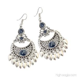 Womens Earrings Retro Ethnic Leaf Earrings Half Month Hollow Evening Earrings Axchongery - B07FL4JK9L