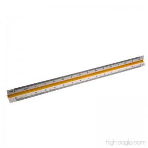 ECYC 12 Triangular Scale Ruler 1:20/25/50/75/100/125 Plastic Engineering Mechanical Drafting Ruler - B078GK7RJN
