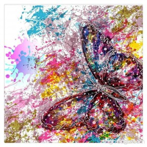 HMLAI 5D DIY Diamond Painting Full Drill Embroidery Painting Canvas Wall Sticker for Home Office Wall Decor-Butterfly - B07DLMCVN5